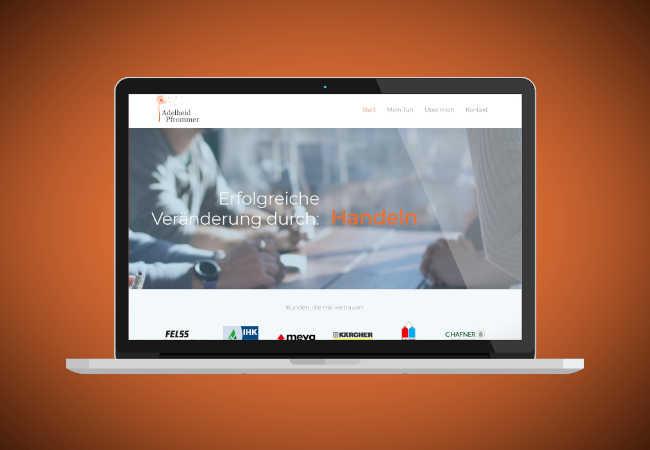 Website für Coaching